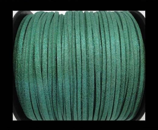 Suede cord - 3mm - Glitter Green