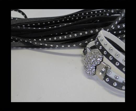 Suede cords 5mm - Dark Grey