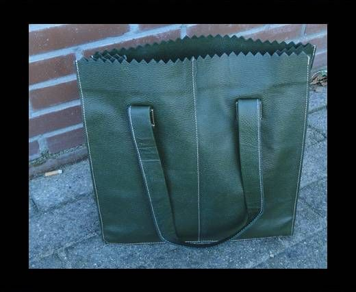 Vintage Leather Neptune Series--20511-Oily Olive Green  (Light s