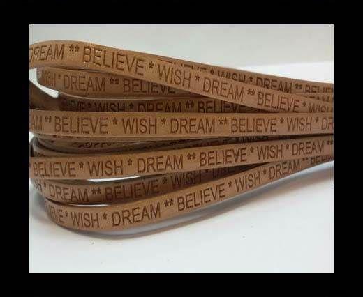 Wish Dream Believe - 5mm - BONE