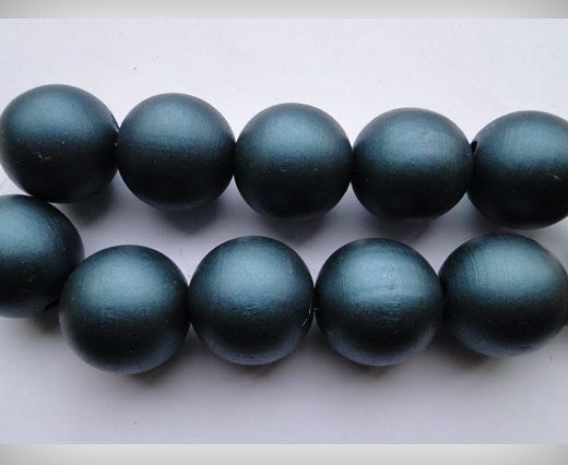 Wooden Beads-25mm-Metalic Dark Blue