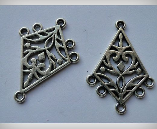 Zamac Silver Plated Beads CA-3013