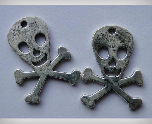 Zamac Silver Plated Beads CA-3021