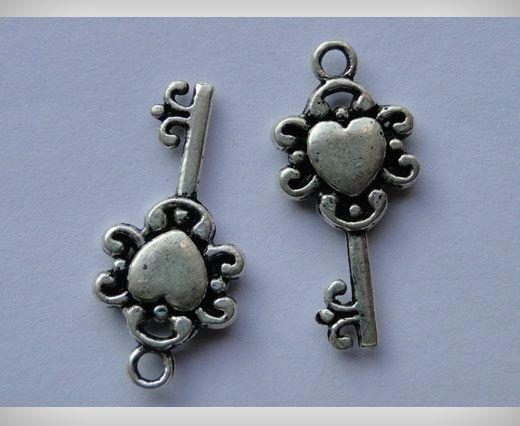 Zamac Silver Plated Beads CA-3019
