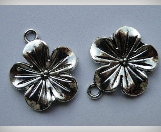 Zamac Silver Plated Beads CA-3026