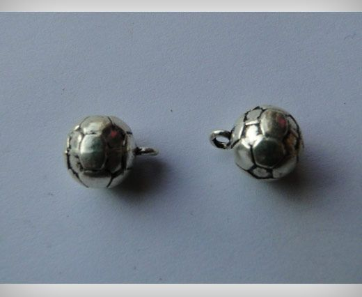 Buy Zamak Silver Plated Bead CA 3043 at wholesale price