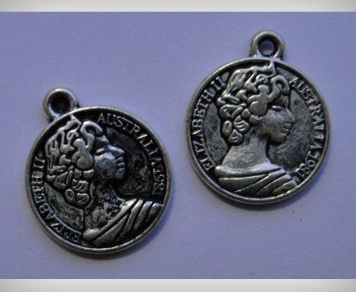 Zamac Silver Plated Beads CA-3080
