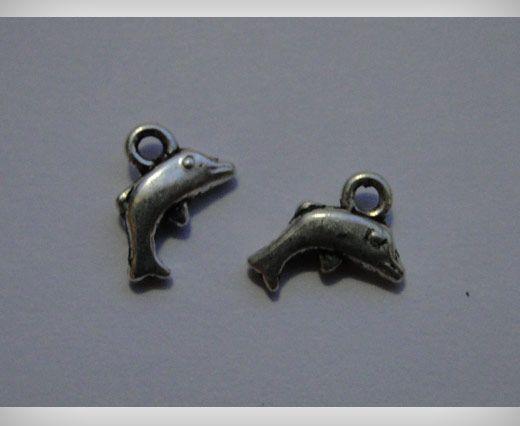 Zamac Silver Plated Beads CA-3092