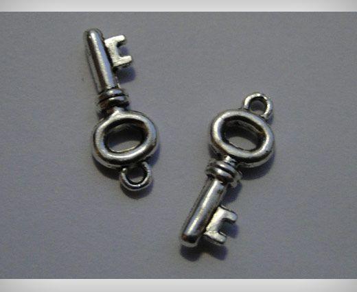 Zamac Silver Plated Beads CA-3093