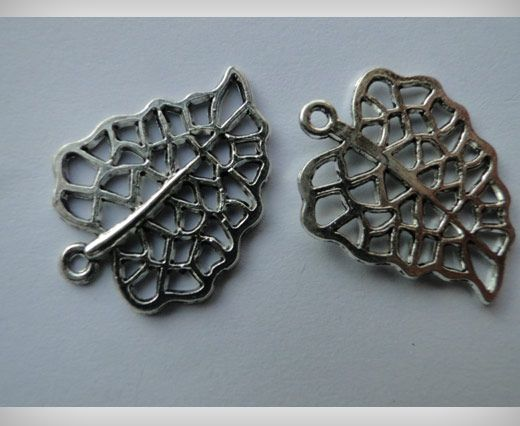 Zamac Silver Plated Beads CA-3106