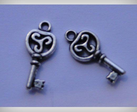 Zamac Silver Plated Beads CA-3107