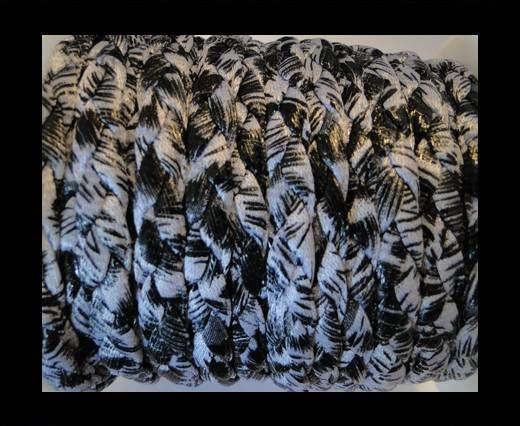 Cordón trenzado fancy - Morado Claro-10mm