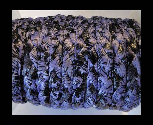 Cordón trenzado fancy-Morado-10mm