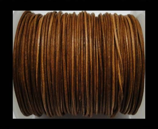 Round Leather Cord  - Cognac - 1mm