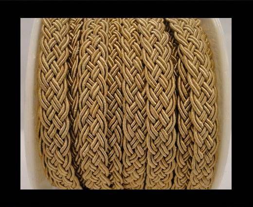 Cordón de Algodón Trenzado- Marrón