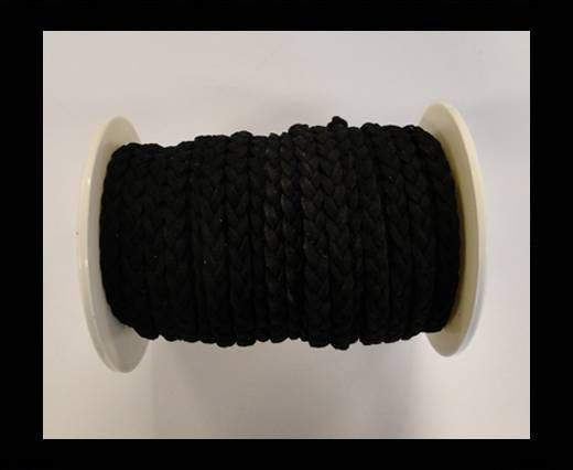 Cordón de Ante Trenzado-Negro-5mm