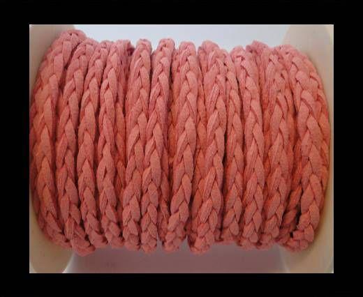 Cordón de Ante Trenzado-Rosa-5mm