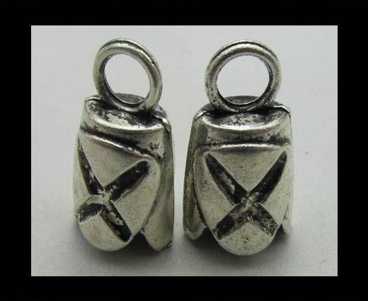 Zamac Silver Plated Beads CA-3342