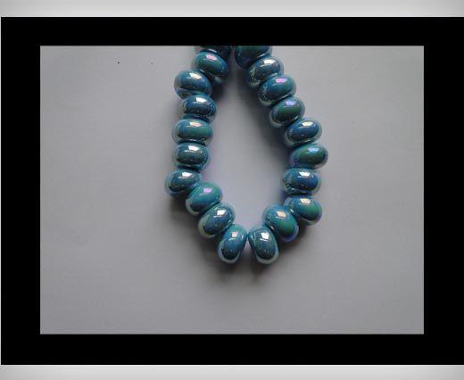 Ceramic Beads -Turqoise-AB