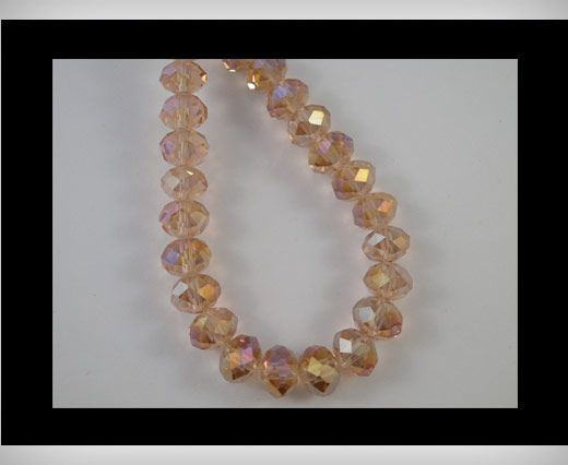 Faceted Glass Beads-4mm-Rose AB
