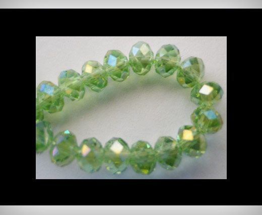 Faceted Glass Beads-6mm-Peridot
