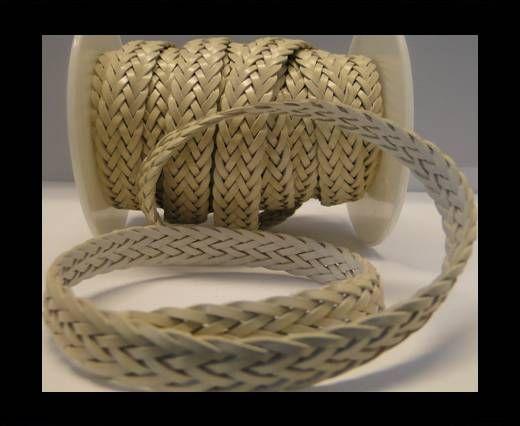 Cordón trenzado plano- Estilo 2- 12mm- Beige
