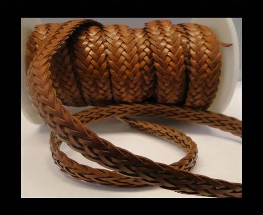 Cordón trenzado plano- Estilo 2- 12mm- Marrón