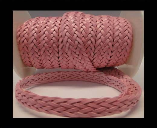 Cordón trenzado plano- Estilo 2- 12mm- Rosa