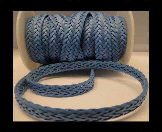 Cordón trenzado plano- Estilo 2- 12mm- Azul Pavo