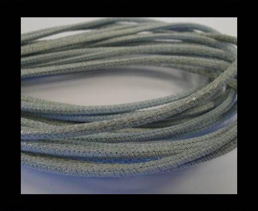 Fine Nappa-2,5mm-lizard light blue + paillettes transparent