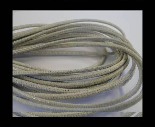 Fine Nappa-2,5mm-lizard light grey + paillettes transparent