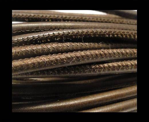 Cuero de nappa de alta calidad - Marrón Oscuro-4mm
