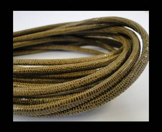 Fine Nappa-Lizard style-4mm-sand + paillettes transparent