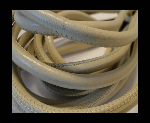 Round stitched nappa leather cord Light Beige-6mm