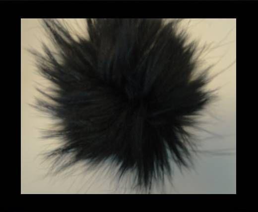 Finn Raccoon Pom Pom-Black-14cms