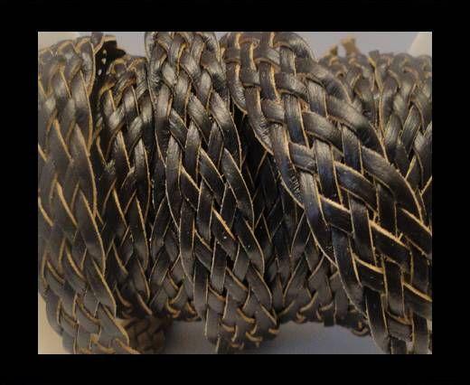 Cordón trenzado plano- Estilo 4- 18mm- Café
