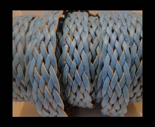 Cordón trenzado plano- Estilo 4- 18mm- Turquesa