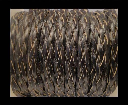 Cordón trenzado plano- Estilo 3- 10mm- Café