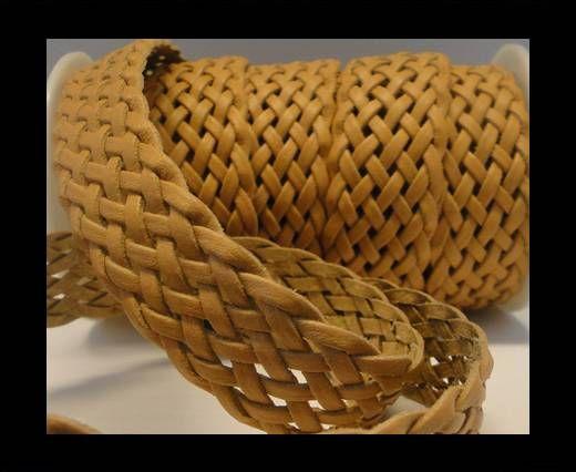 Cordón trenzado plano- Estilo 5- 25mm- Natural