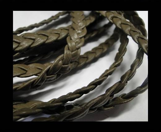 Flat Braided Nappa Cords 10mm GREY