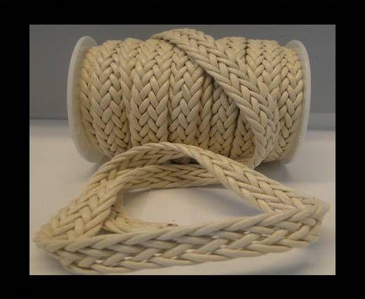 Cordón trenzado Estilo especial- 16mm- Blanco