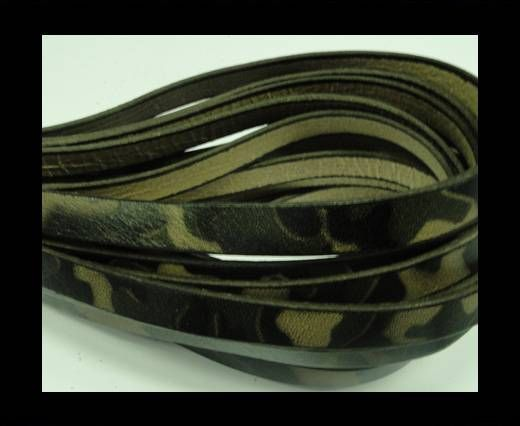Flat Leather Cord 10mm-Camouflage Print