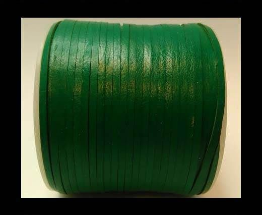 Flat Leather Cords - Cow -width 4mm-27405 - Green