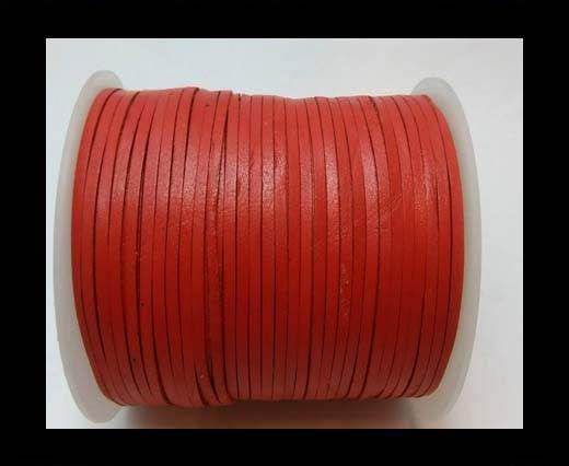Flat Leather Cords - Cow -width 4mm-27406 - Red
