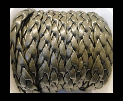 synthetic nappa leather Braided-Cords-10mm-Army Green