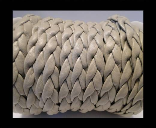 synthetic nappa leather Braided-Cords-10mm-Beige
