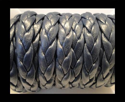 synthetic nappa leather Cords-10mm-Dark Blue