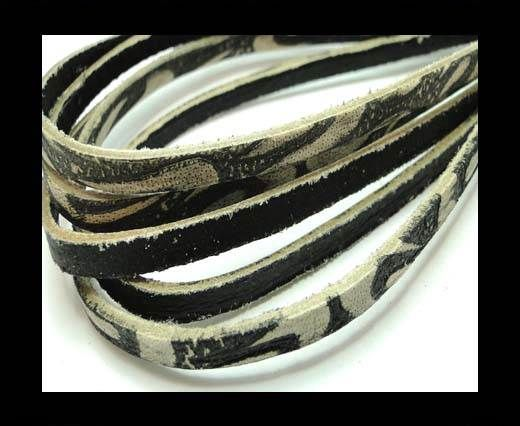 Flat Vintage Leather - 5mm - Black