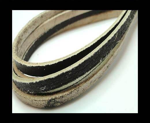 Flat Vintage Leather - 5mm - Dark Brown