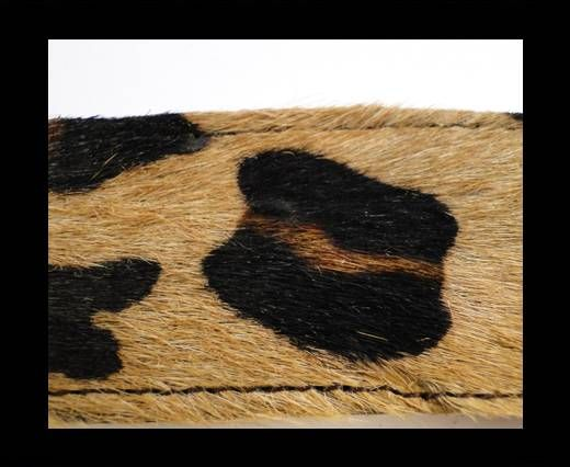 Hair-On Leather with Stitch-Leopard Skin (big)-10mm